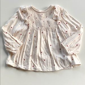 Zara | Cream Ladybug Ruffled Blouse | 4-5 Years